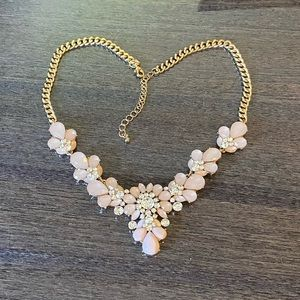 2/$20 pink stones and crystals necklace